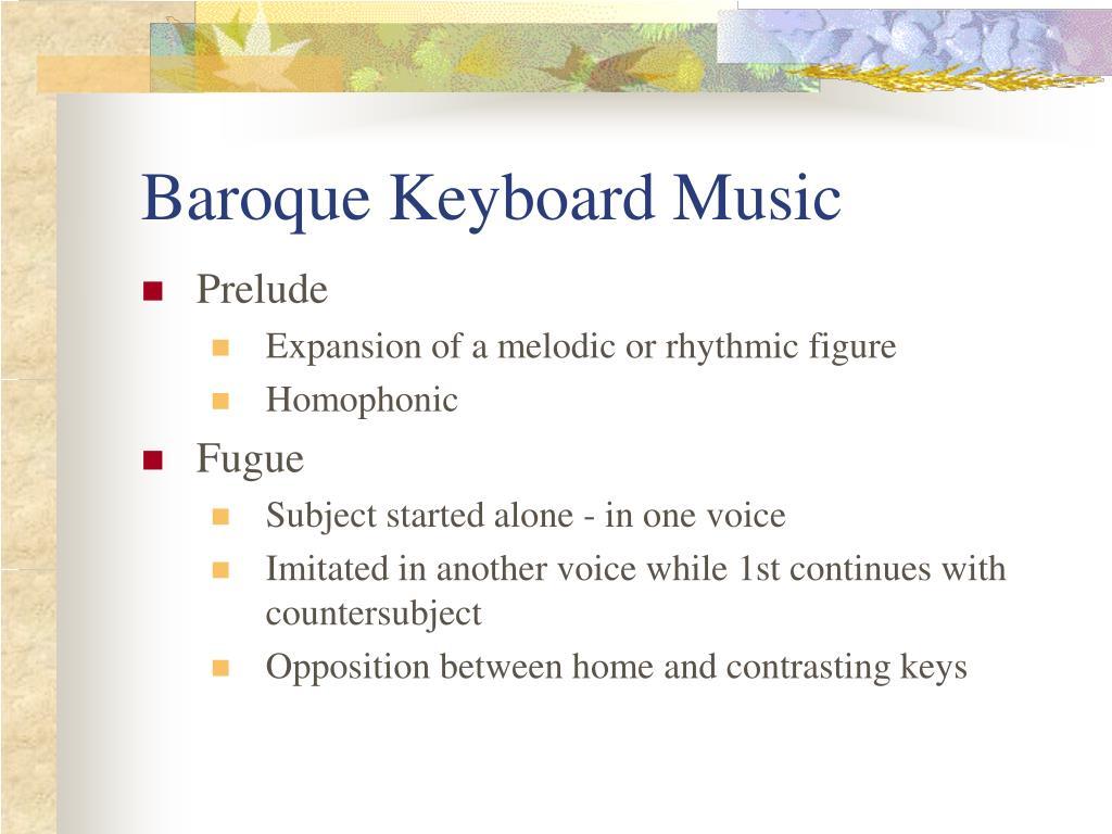 Baroque Keyboard Music