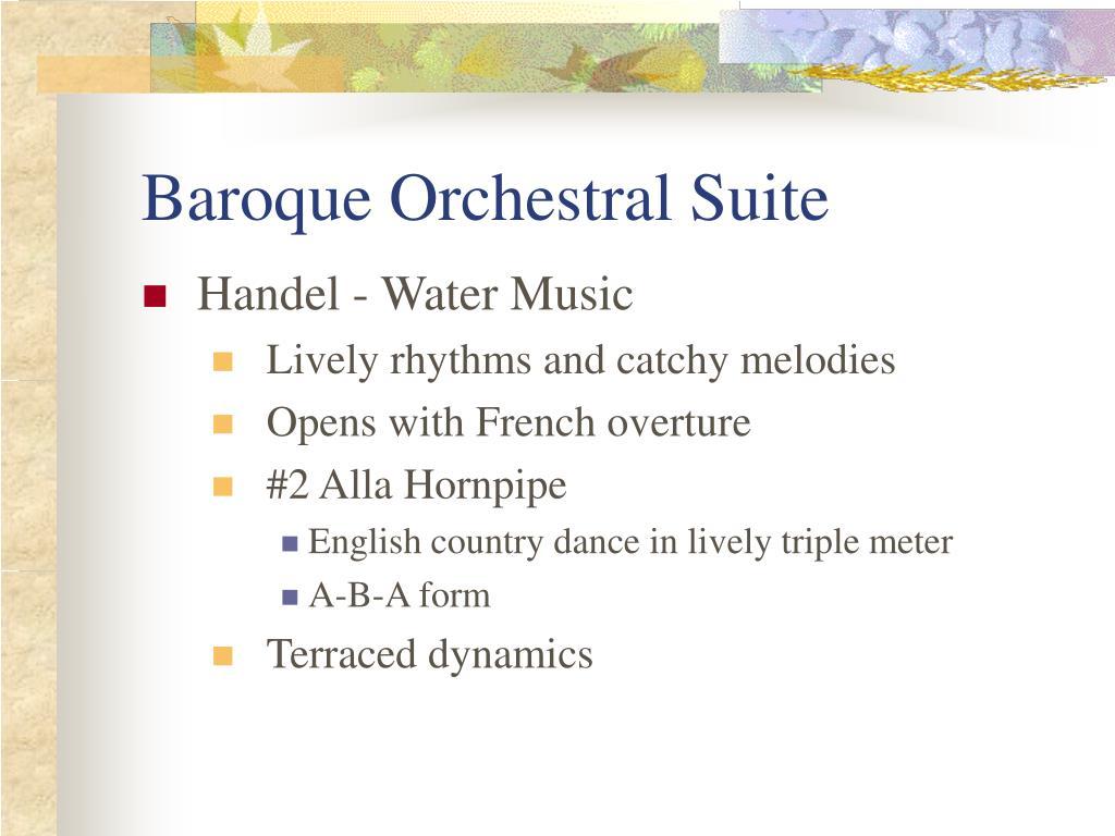 Baroque Orchestral Suite