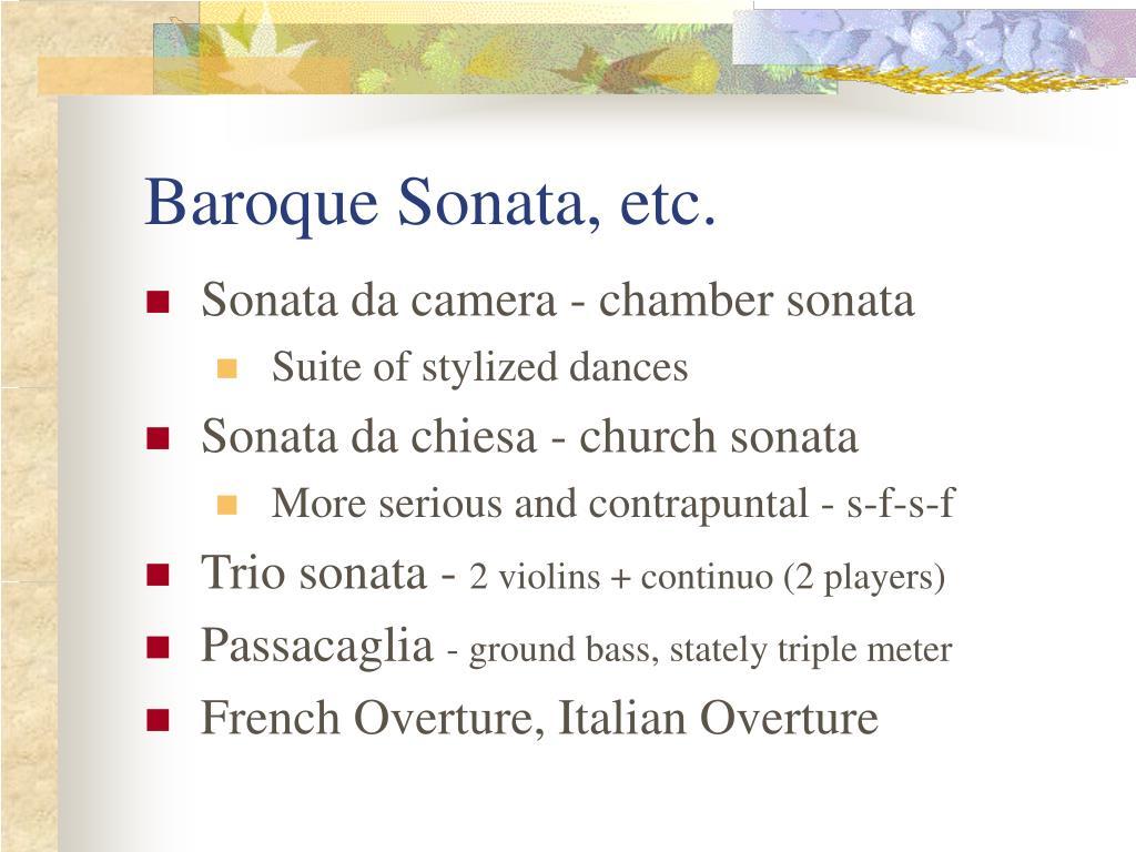 Baroque Sonata, etc.