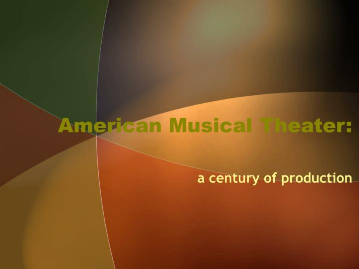 American musical theater