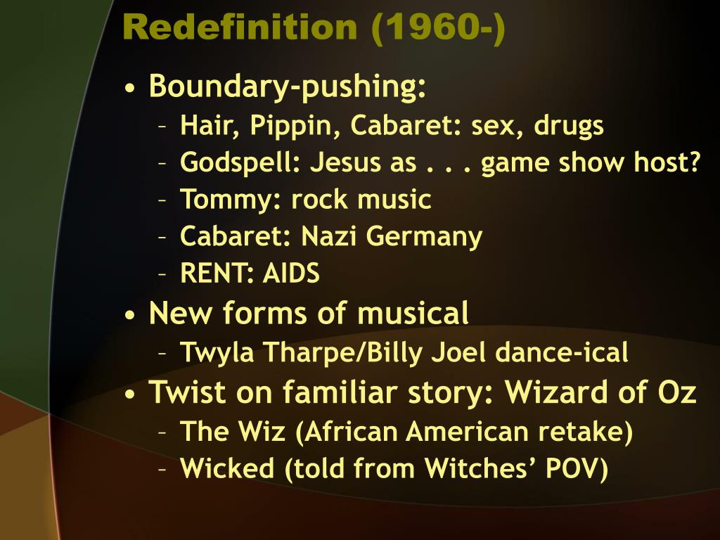 Redefinition (1960-)