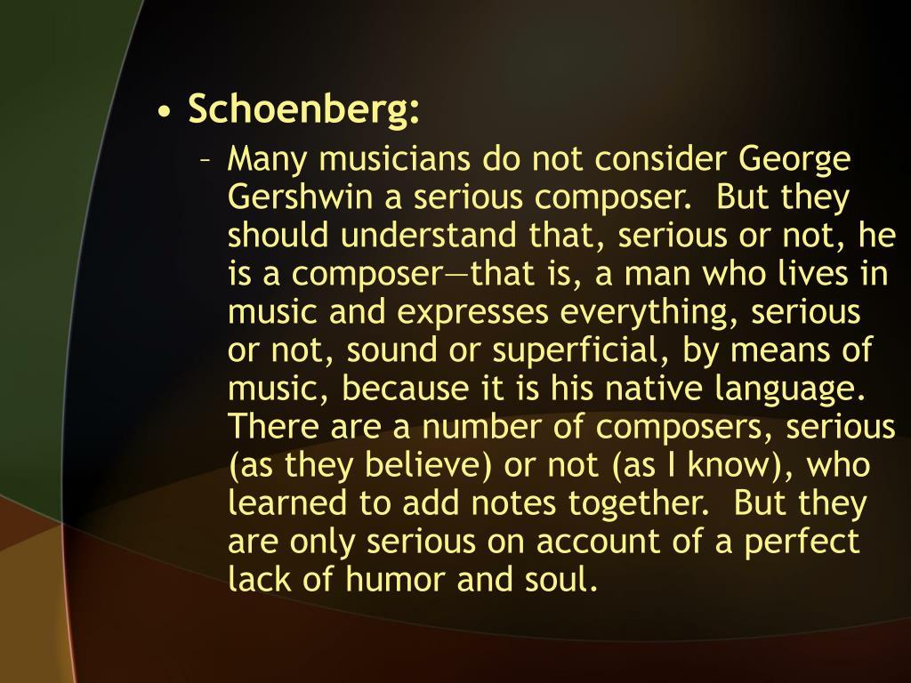 Schoenberg: