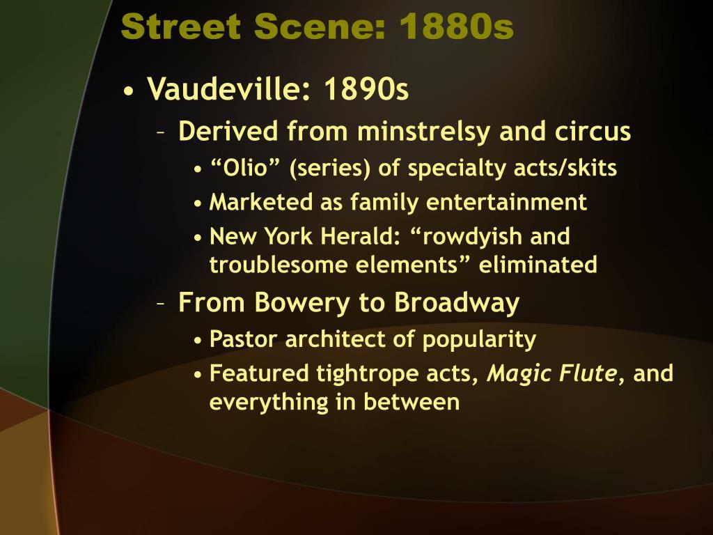 Street Scene: 1880s