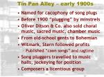 tin pan alley early 1900s