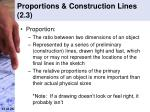 proportions construction lines 2 3