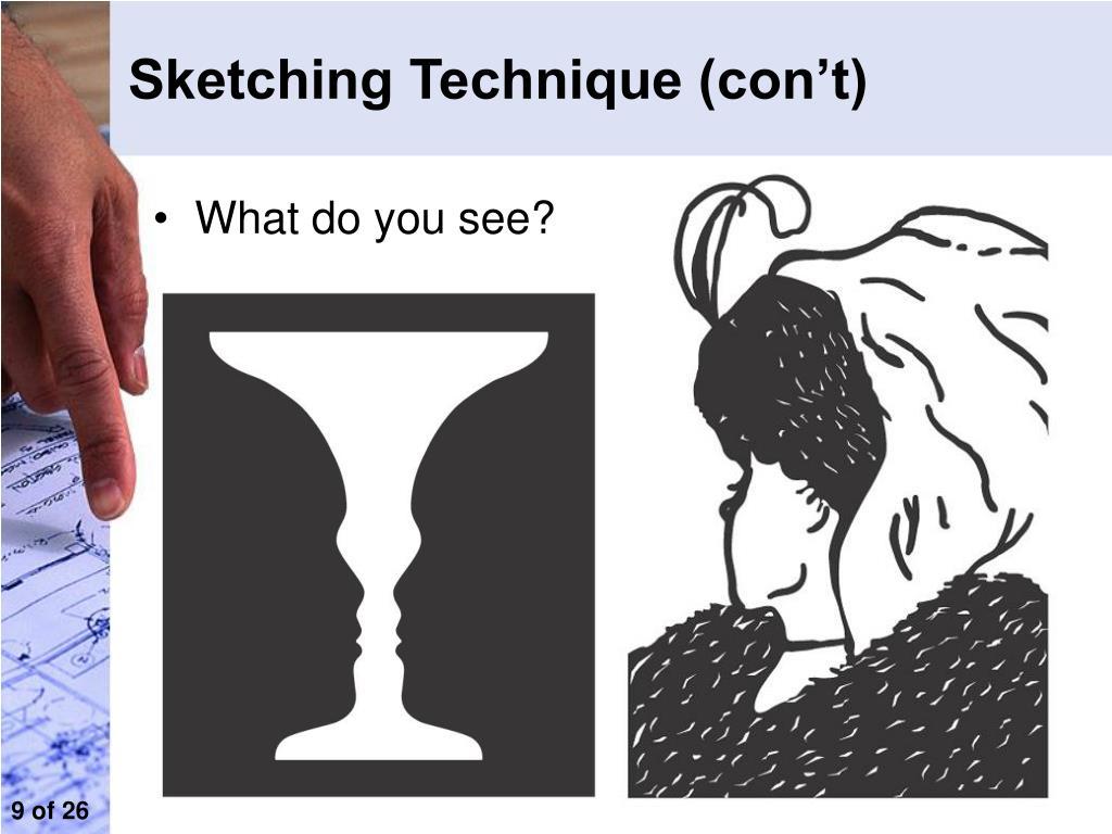 Sketching Technique (con't)