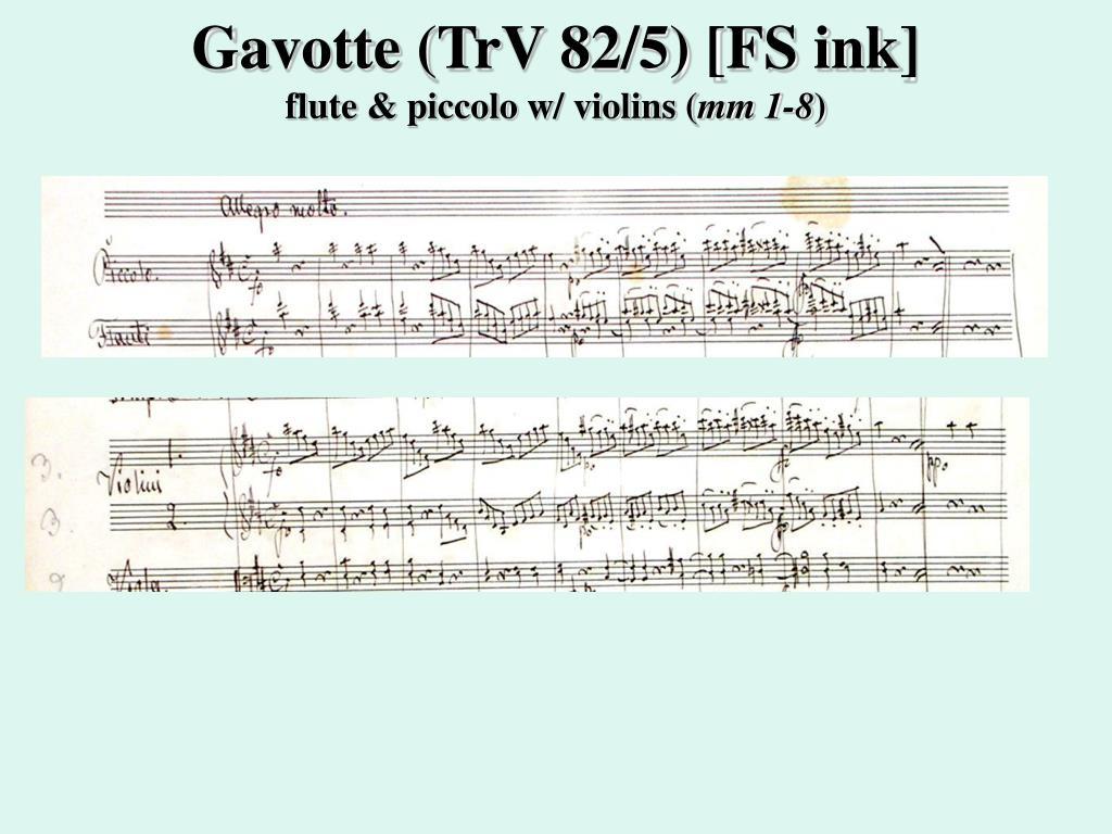 Gavotte (TrV 82/5) [FS ink]