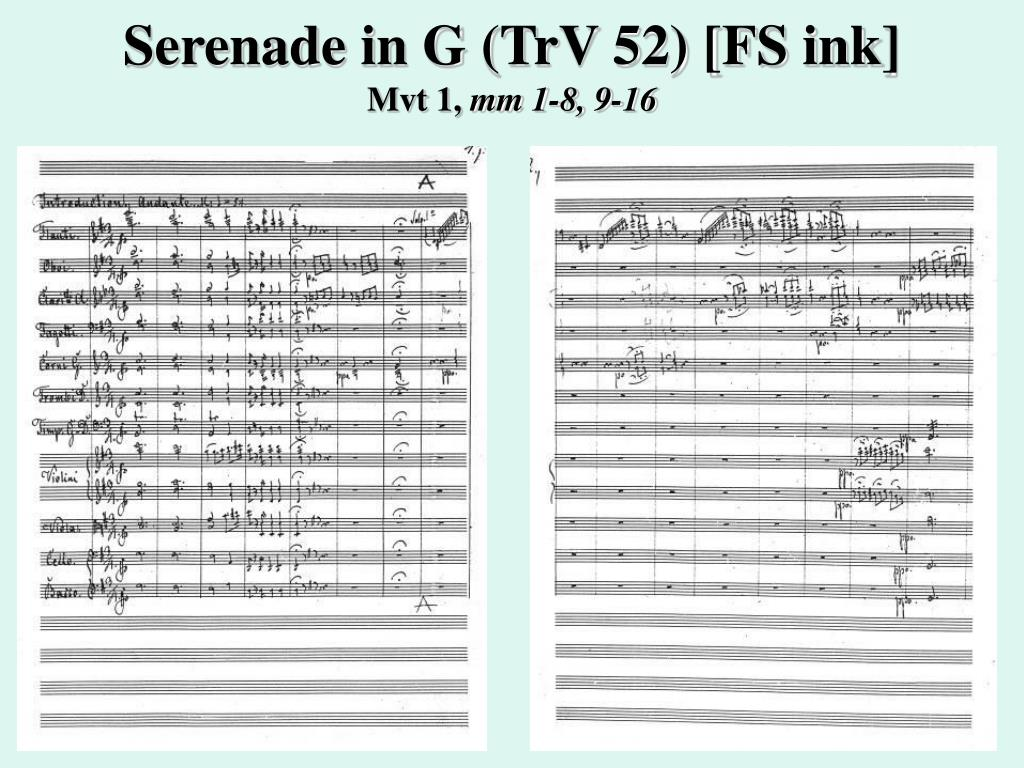 Serenade in G (TrV 52) [FS ink]