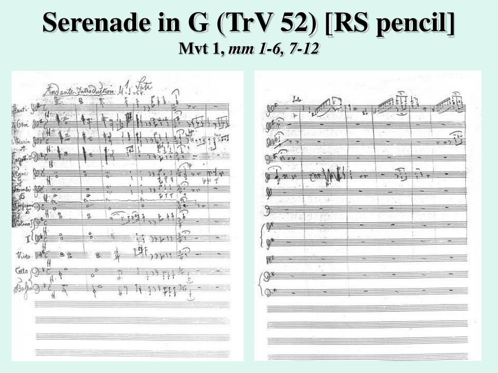 Serenade in G (TrV 52) [RS pencil]