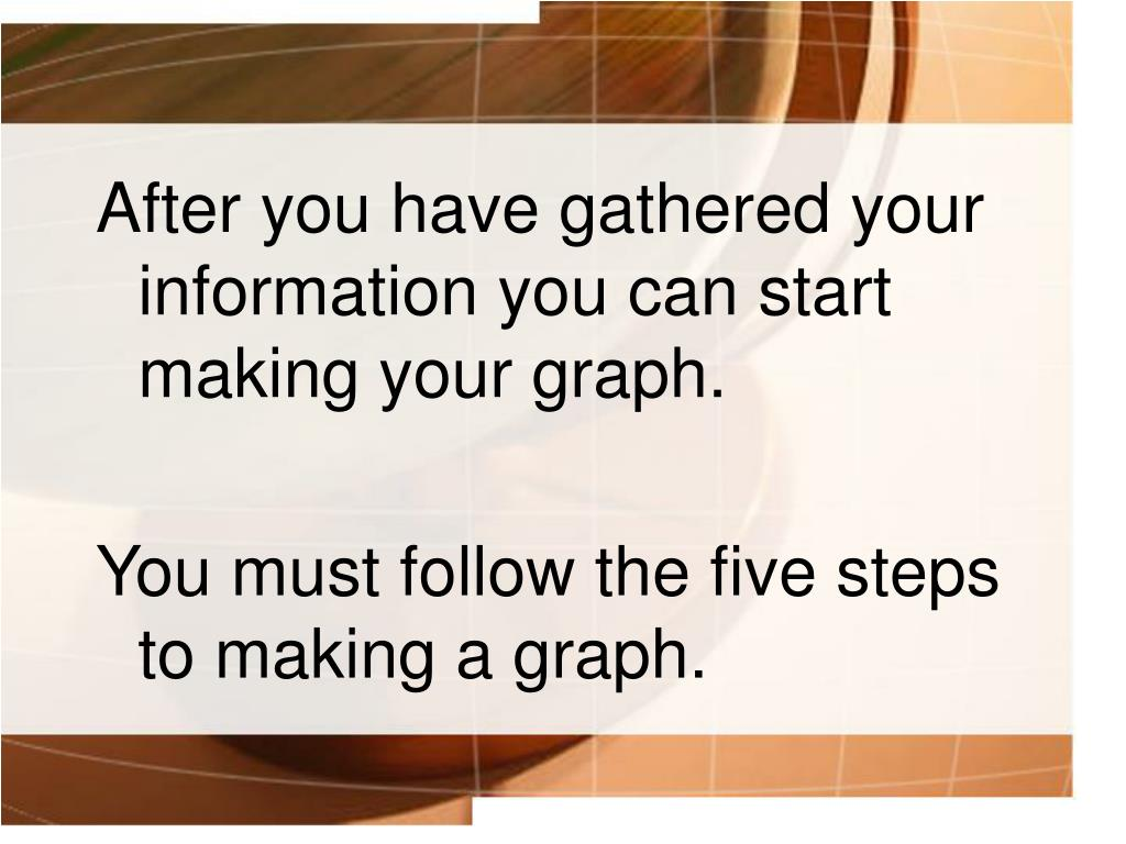 After you have gathered your information you can start making your graph.