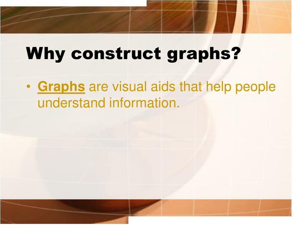Why construct graphs?