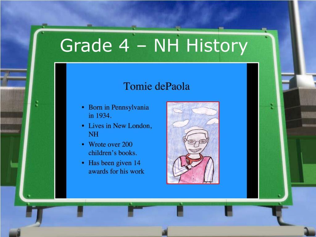 Grade 4 – NH History