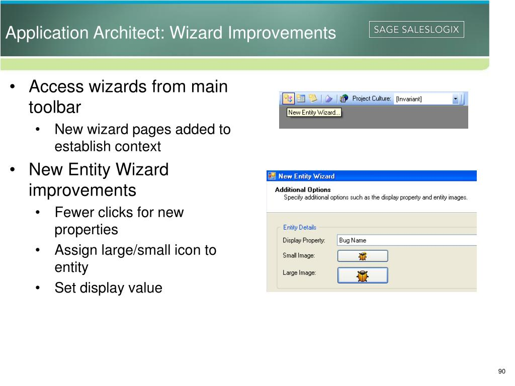 Application Architect: Wizard Improvements