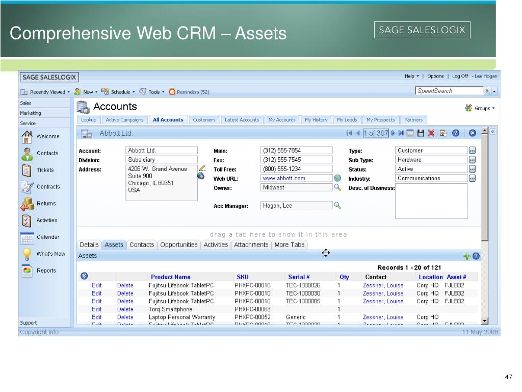 Comprehensive Web CRM – Assets
