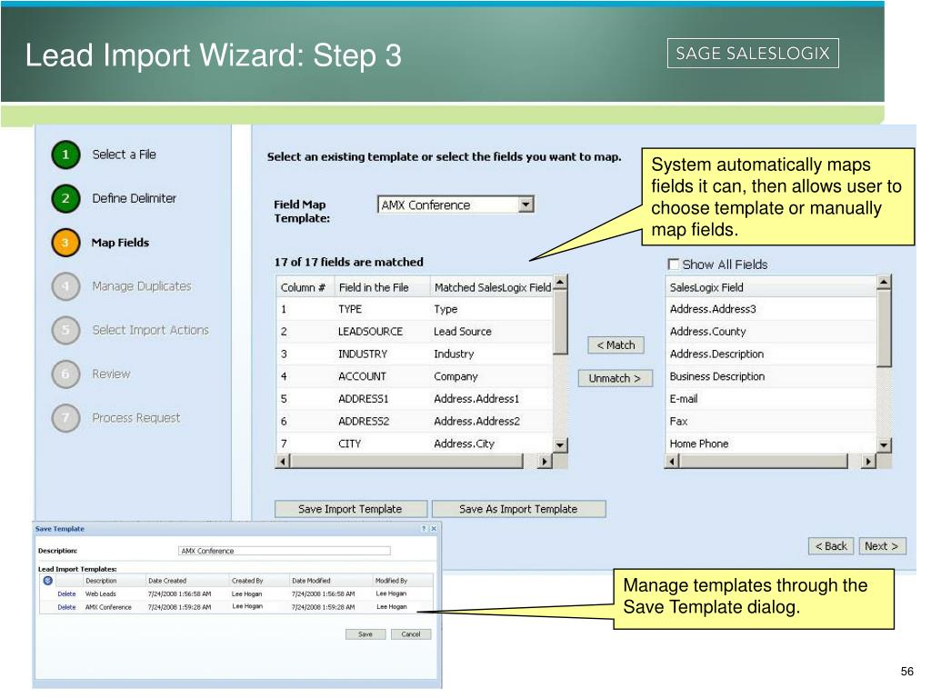 Lead Import Wizard: Step 3