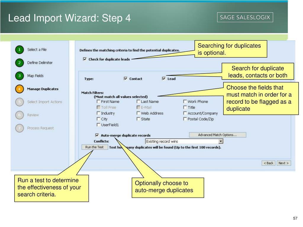 Lead Import Wizard: Step 4