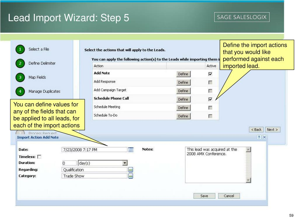 Lead Import Wizard: Step 5