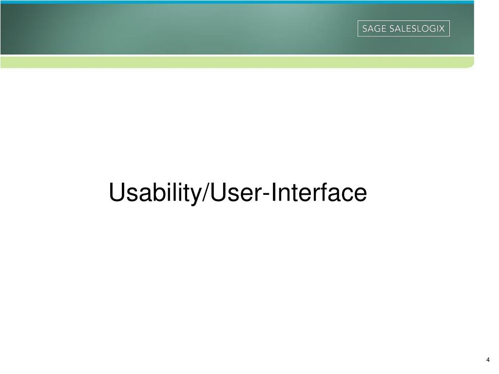 Usability/User-Interface
