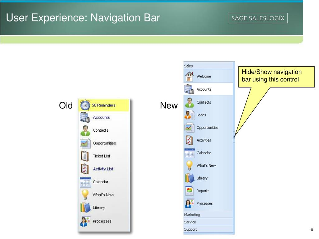User Experience: Navigation Bar