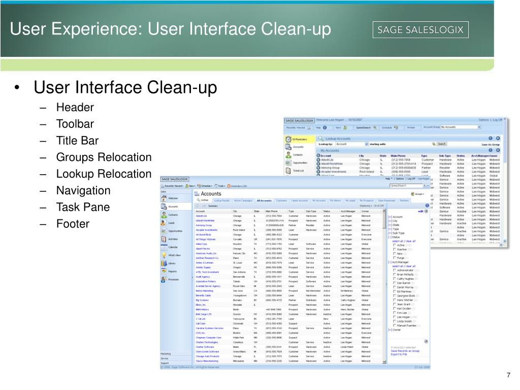 User Experience: User Interface Clean-up