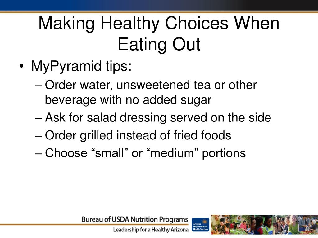 Making Healthy Choices When Eating Out