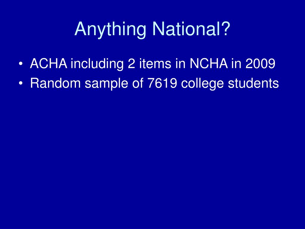 Anything National?