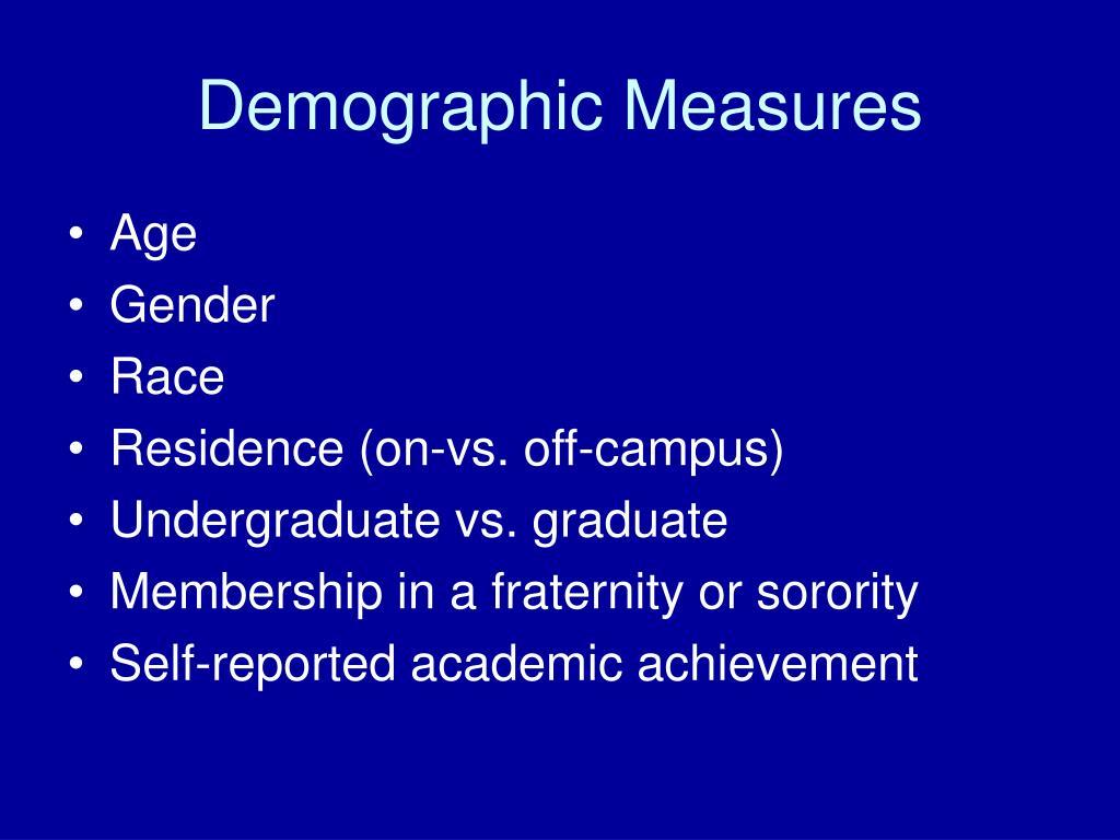 Demographic Measures