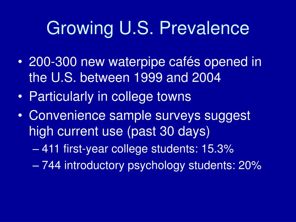 Growing U.S. Prevalence