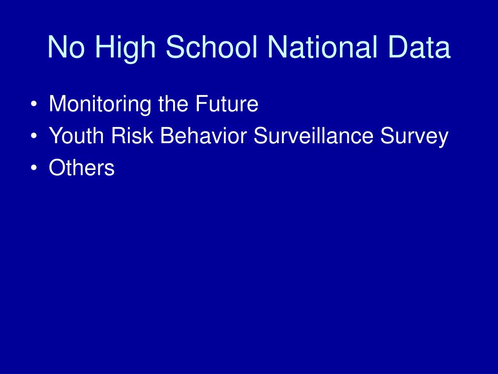 No High School National Data