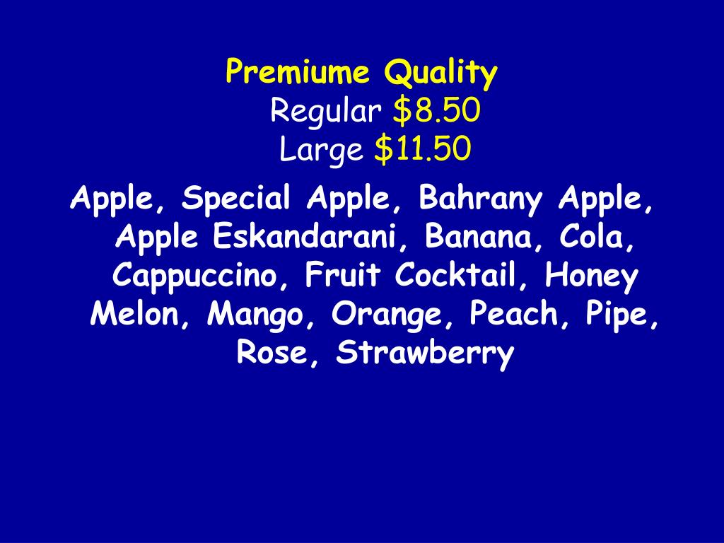 Premiume Quality