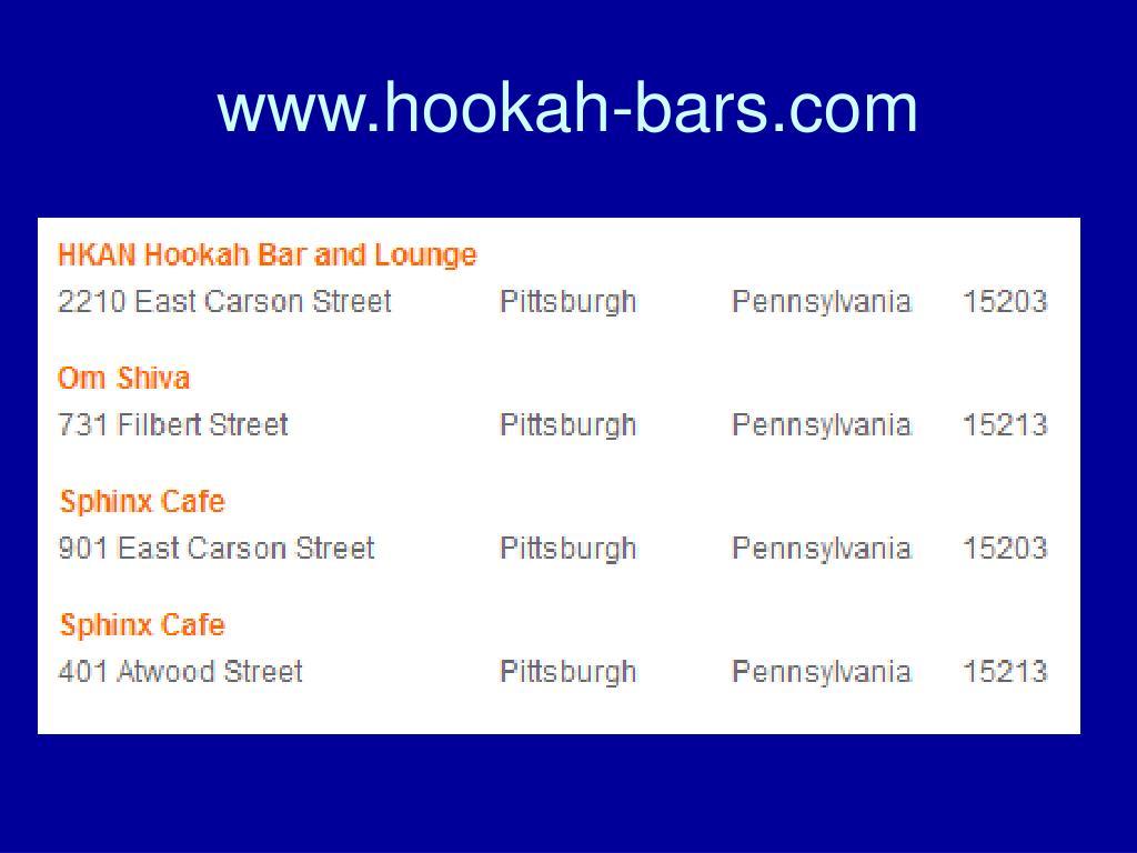 www.hookah-bars.com