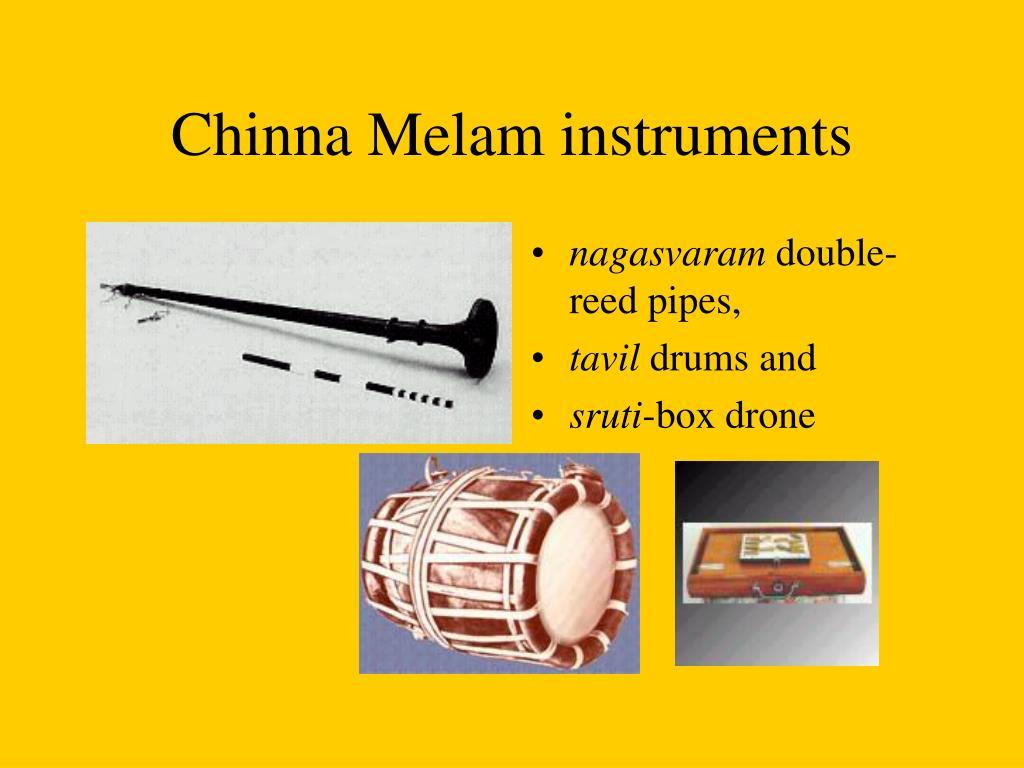 Chinna Melam instruments