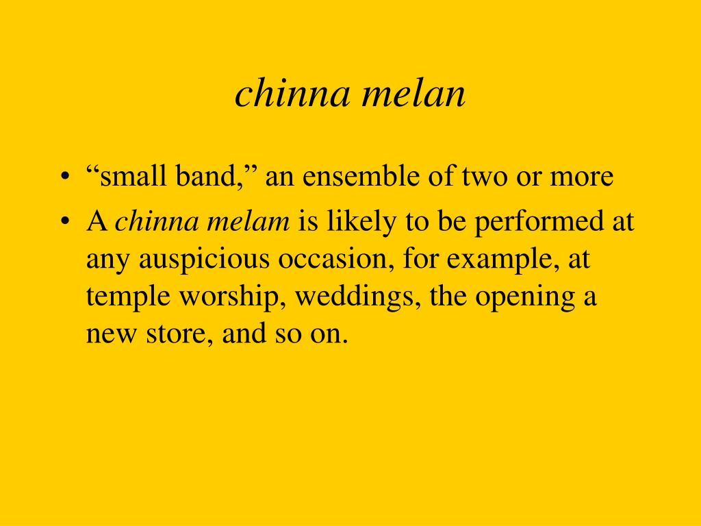 chinna melan