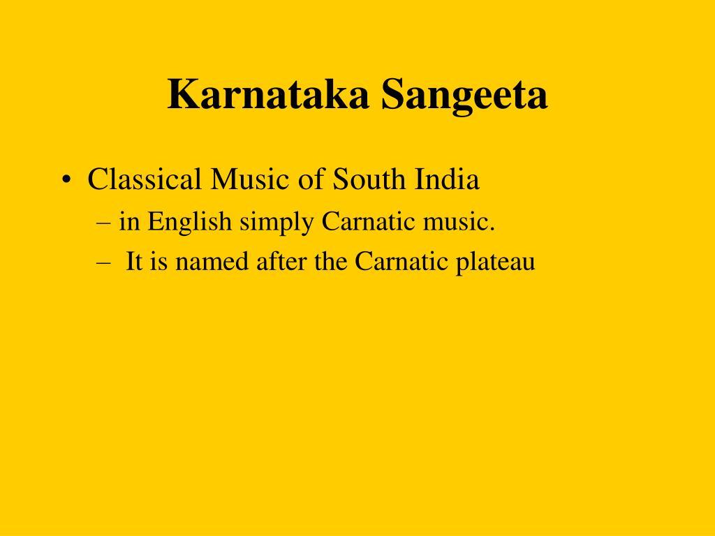 Karnataka Sangeeta