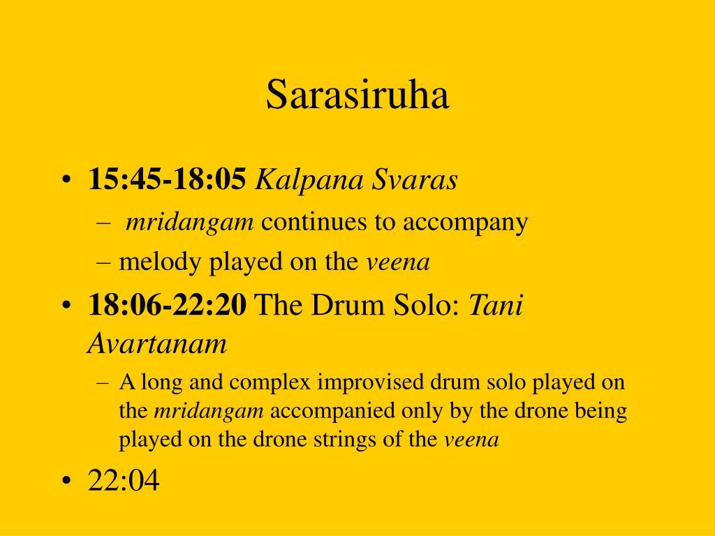 Sarasiruha