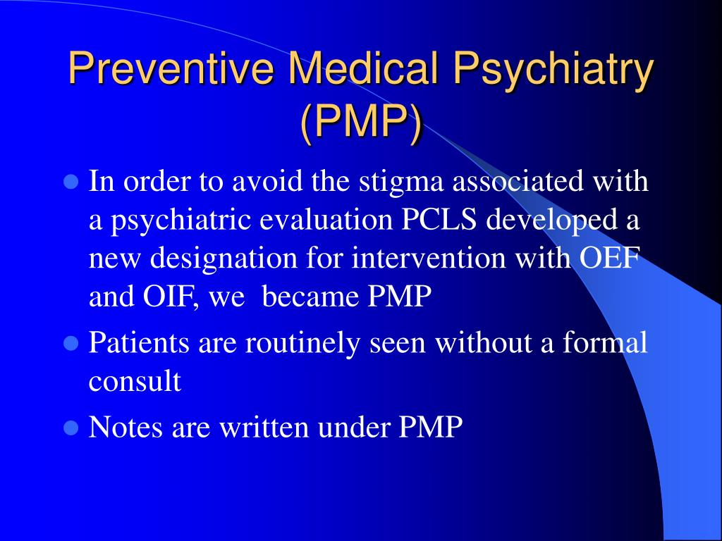 Preventive Medical Psychiatry (PMP)