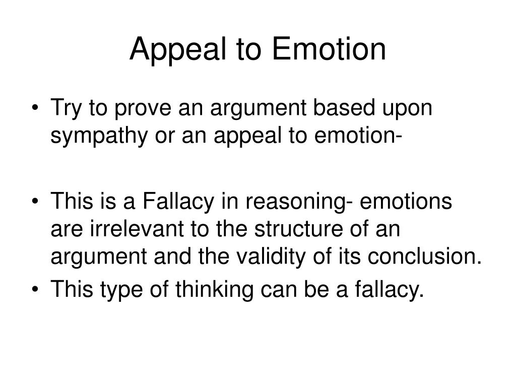 emotional reasoning fallacy and memory