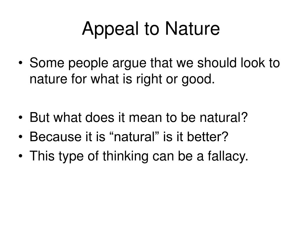 Appeal to Nature