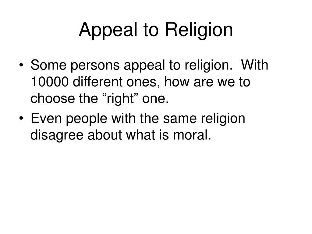 Appeal to Religion