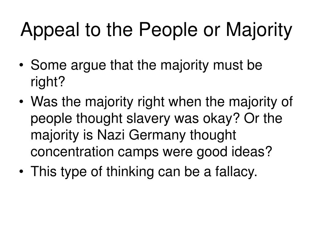 Appeal to the People or Majority