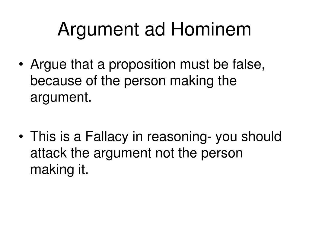 Argument ad Hominem