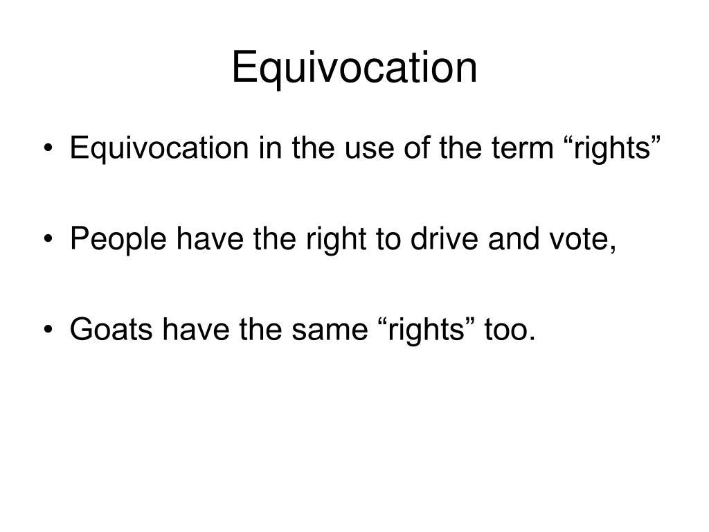 Equivocation
