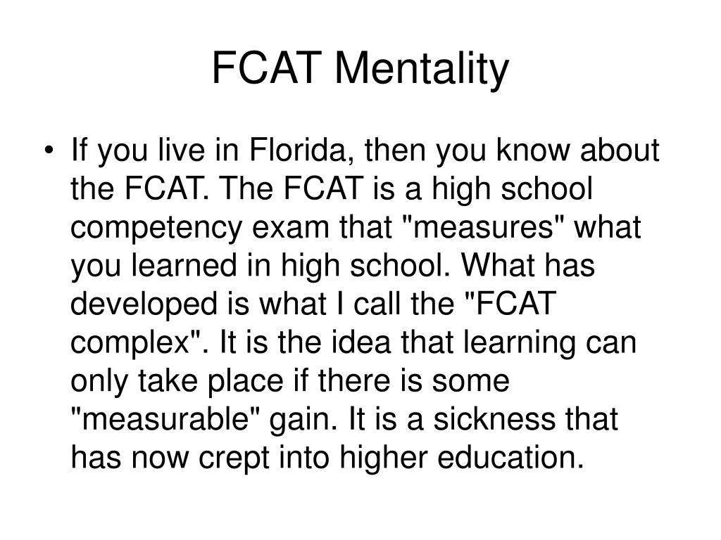 FCAT Mentality
