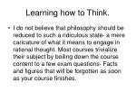 learning how to think
