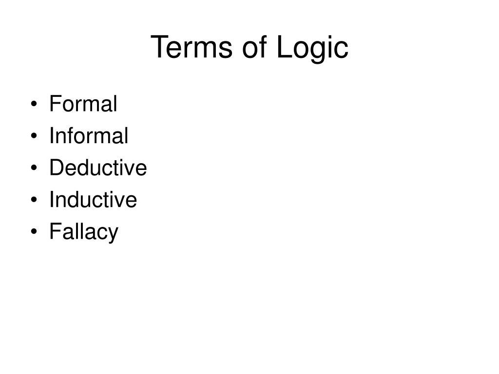Terms of Logic
