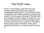 the fcat view