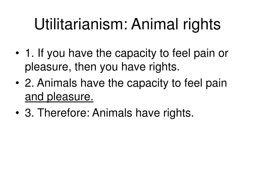 Utilitarianism: Animal rights