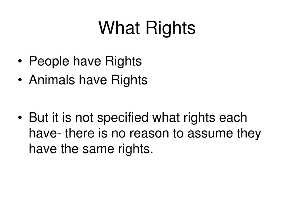 What Rights