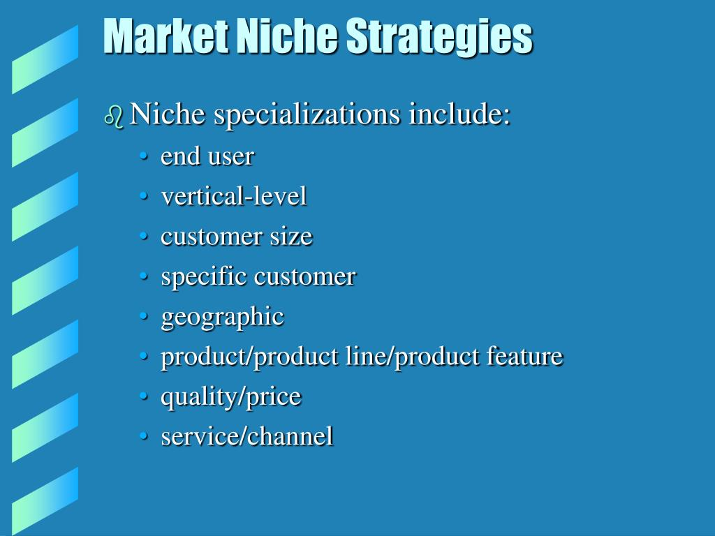 Market Niche Strategies