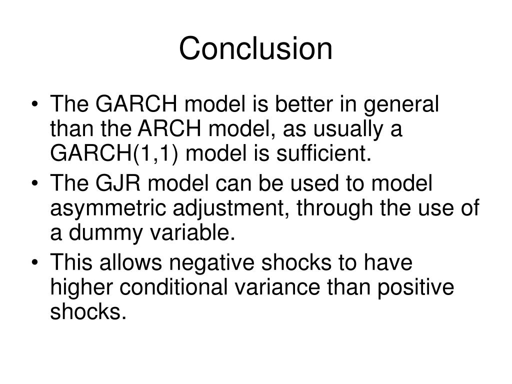 garch model thesis Hello i would really like to understand step by step how to build a model garch i have much need for my thesis i understand that i take a data column.